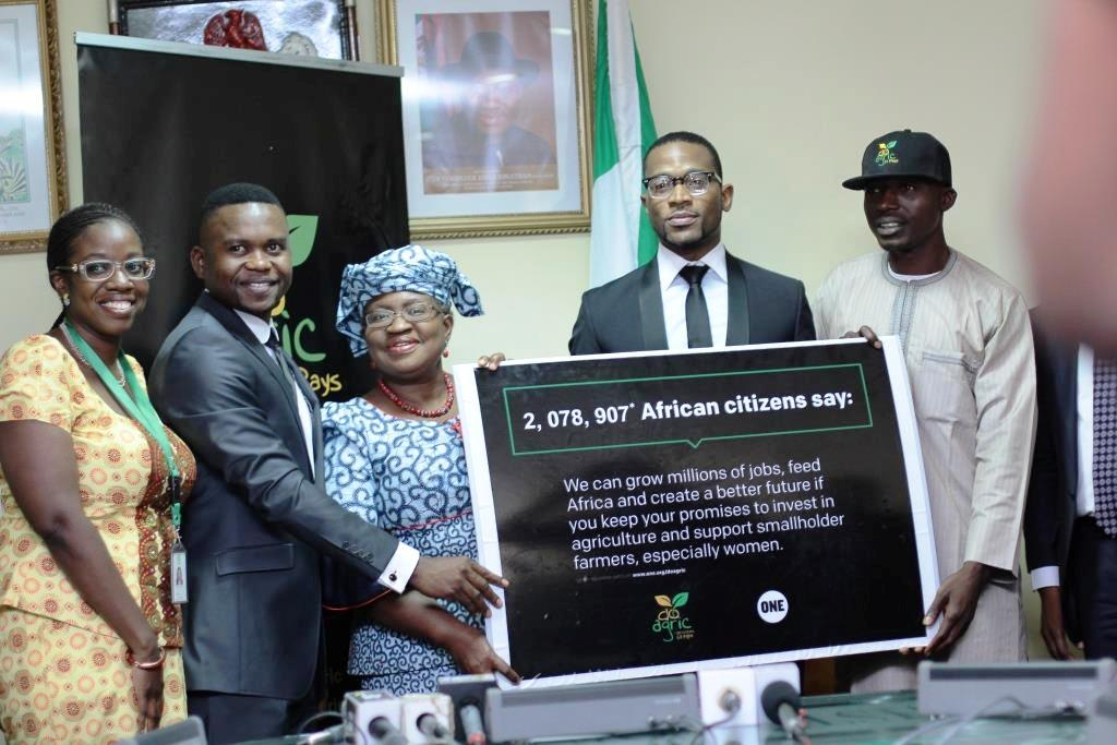 Wax, D'Banj Deliver Petition to Nigerian Finance Minister