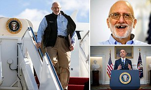 Alan Gross arrives at Joint Base Andrews, Maryland in this White House handout photo
